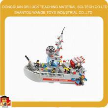 shantou3d militär kriegsschiff modell block spielzeug schiffsmodelle made in china