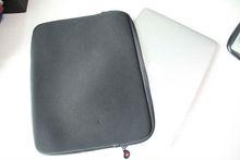 """Grey waterproof neoprene 12.5"""" 15.5"""" laptop sleeve"""