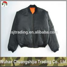 black MA1 flight jacket