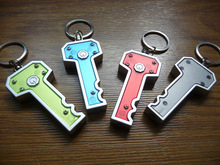 Promotion new design key shape Mini led light keychain