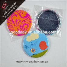 Novel design female use tinplate custom made pocket mirrors / sheet glass prices mirror