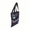 Modern New Design High Quality Black cotton rope handle plastic shopping bag