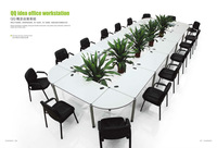 aluminium big size meeting table workstation /conference table