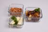 0.7L, 0.55L, 0.33L square IKEA candle holder partner hot sale glass pyrex crisper