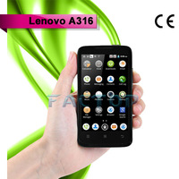 android 4.0 used mobile lenovo a316 dual core 4.0 inch capacitive touch screen with CE certificate