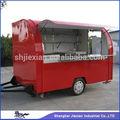 2014 Jiexian comida y máquinas de bebidas carrito de comida de remolque remolque móvil de alimentos