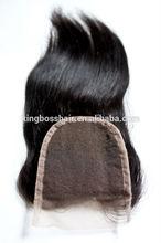 Factory price Brazilian hair virgin hair top closure