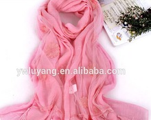 Women's national shivering floral printing voile scarf