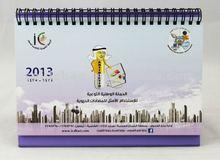 2014 promotion \cheap wholesale table ,desk standing calendar