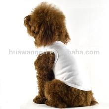 Popular plain pet dog shirt, plain white dog t-shirts, plain dog t-shirt