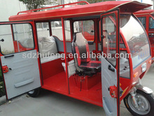body type closed and driving type motorized passenger tricycle