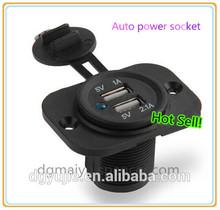 wholesale dual usb 12v cigarette lighter socket,waterproof power socket