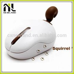 Funny gift 2.4G animal tail fox latest model usb custom cheap wireless flat computer mouse