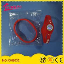 Colorful magnetic silicone negative ion bracelets ion power bracelet