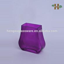 Em forma de especial colorido vaso de vidro, Handmade top retângulo vidro para decoração