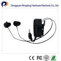 mini cheap retractable earphone for zing ear