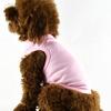 Plain dog clothes, wholesale plain pink dog t-shirts clothes, plain clothes for dog