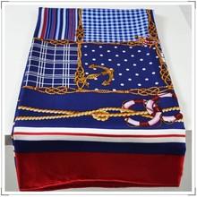 twill silk hand hemming scarf