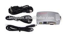 VGA to TV AV BNC USB VGA to Composite + RCA S-Video Video Signal Converter Adapter Box Computer Laptop PC MAC Monitor