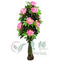 0473 desenho bonito vaso com flores