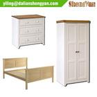 White Oak Wooden Modern Hotel Bedroom Furniture Set Wholesale
