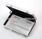 Custom Portable High Quality Blow Mold Hard Aluminum name card case KL-T424