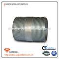 Galvanizado/negro astm acero a53tamaño tubo roscado pezones bs pipe thread