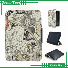 Antique United States Map Tablet Hard Shell Case for Amazon kindle fire hd 8.9