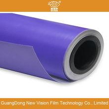 purple matte car wrap
