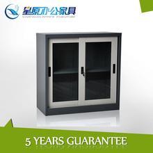 Kitchen small elegant storage cupboard with 2 lockable glass door