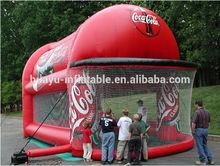 inflatable baseball cage game