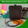 2014 New design candy color silicone shoulder bag, hotest sales silicone bag, candy color silicone satchel bag