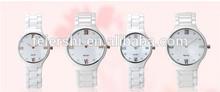 Japan Quartz ceramic pair watches 3ATM water resistant wrist couple watches