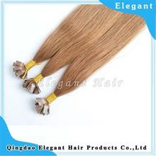 100 aliexpress best quality human factory price Italian Keratin Flat Tip Hair Extensions