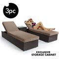 Cheap Patio Waterproof double sun bed