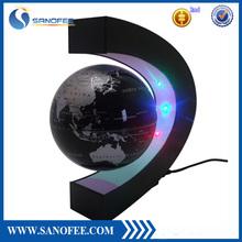 Colourful LED Light Floating World Map Antigravity Globe Magnetic Levitation, Magnetic floating globe ,Magetic induction lamp.