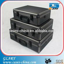 Black portable customed aluminum tool case / suitcase