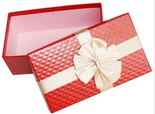 2014 Popular style gift packing box with ribbon for garment,gift