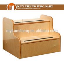 Wooden folding step stool 21c