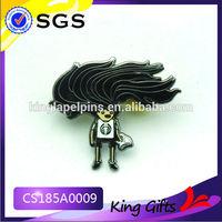 hard enamel fan lapel pin Cheap Trading Pins free sample metal lapel pin