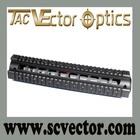 Vector Optics Two Pieces Generalism RIS Precision Low Profile Tactical Aluminum M4 M16 AR AR15 Handguard Quad Rail Long