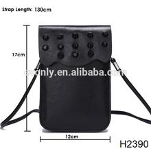 H2390 Wholesale new women mini crossbody bag rivet handbag pu leather handbags