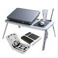 Plegable escritorio del ordenador portátil con 2 usb ventilador, el tema más popular en el mundo