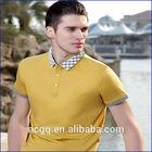 2014 fashion men's British Style Business t-shirt , short sleeve Lapel polo t-- shirt
