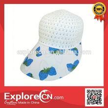 Wholesale big visor sun visor hat cap with printed logo