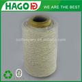 Branco cru luva ne12s fios de algodão reciclados extremidade aberta/oe algodão penteado& gaseados fio mercerizado