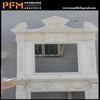 2014 PFM hot sale natural beautiful hand carved movable grey fireplace