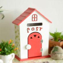 2014 hot sell zakka wooden crafts wooden gift painted wooden bird house