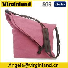 6633 2014 New Arrival Fashion Pink Foldable Canvas Shoulder Handbag for Women