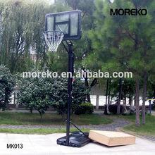Outdoor Adjustable Basketball Goals MK013 with spring rim, acrylic transparent backboard PE plastic frame